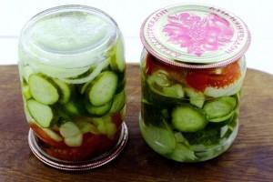 Салат из огурцов и помидоров на зиму