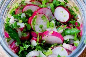 Салат из редиски на зиму