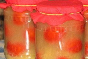 Помидоры в яблочном соке на зиму
