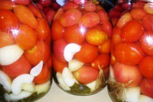 Помидоры с яблоками на зиму