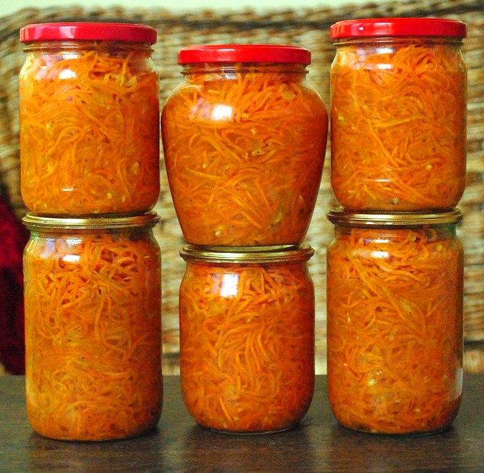 Салаты из моркови рецепты на зиму
