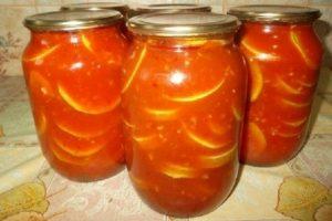 Кабачки с помидорами на зиму