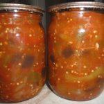 Салат из кабачков и баклажанов на зиму