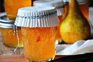 Конфитюр из груш с лимоном